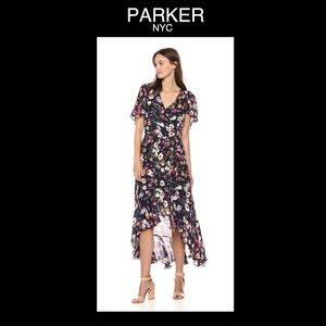 ♠️PARKER NYC XS Cosmic Daisy Black Floral Dress♠️